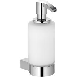 KEUCO Seifenspender, Glas/Kunststoff/Metall, glänzend, chromfarben/weiß