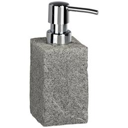 WENKO Seifenspender »Granit«, Polyresin, grau