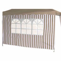 SIENA GARDEN Seitenteile, Breite: 294 cm, Polyester, taupe/weiß