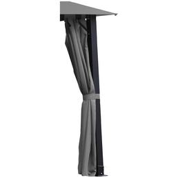 LECO Seitenteile, Breite: 300 cm, Polyester, grau