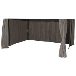 SIENA GARDEN Seitenteile »Dubai«, Breite: 400 cm, Polyester, grau