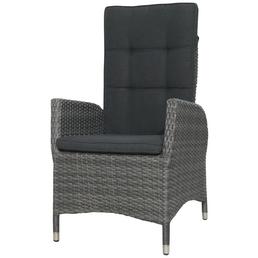 CASAYA Sessel »Jardel«, BxTxH: 60  x 68  x 111  cm, Polyrattan/ Aluminium/ Polyester