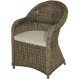 ploß® Sessel »Lambrini«, B x T x H: 67  x 60  x 87 cm, Polyester/ Aluminium/ Polyrattan