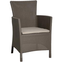 BEST Sessel »Napoli«, Gestell: Kunststoff, inkl. Auflage