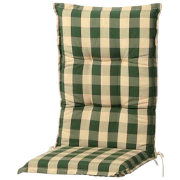 Schwienhorst Sesselauflage »Kent«, Hochlehner, grün, kariert, BxL: 120 x 50 cm