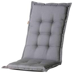 MADISON Sesselauflage »Panama«, Uni, grau, 123 cm x 50 cm