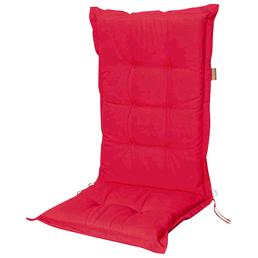 MADISON Sesselauflage »Panama«, Uni, rot, 105 cm x 50 cm