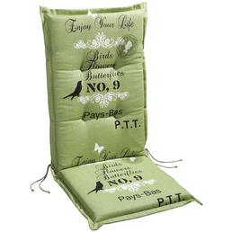 BEST Sesselauflage »Selection-Line«, grün, BxL: 50 x 120 cm