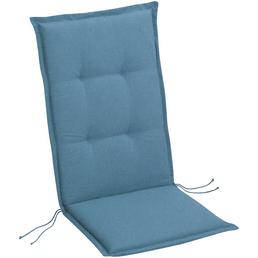 BEST Sesselauflage »Selection-Line«, Niederlehner, blau, Uni, BxL: 50 x 100 cm