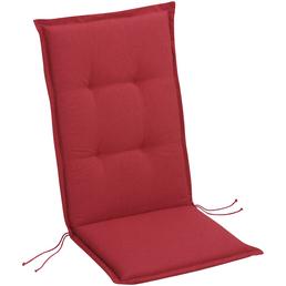 BEST Sesselauflage »Selection-Line«, Niederlehner, rot, Uni, BxL: 50 x 100 cm