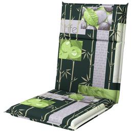 DOPPLER Sesselauflage »Spirit«, Floral, grau/grün, 100 cm x 48 cm