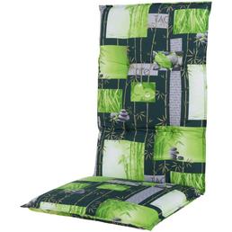 DOPPLER Sesselauflage »Spirit«, Hochlehner, grün, floral/blaetter, BxL: 48 x 119 cm
