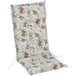 BEST Sesselauflage »Swing-Line«, weiss/lila/rot/orange, BxL: 50 x 120 cm