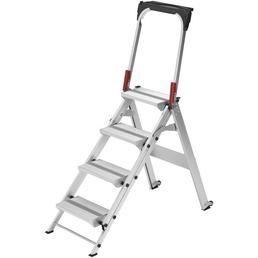 HAILO Sicherheitstreppe »ST 100«, Anzahl Sprossen: 4, Aluminium
