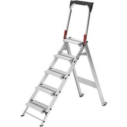 HAILO Sicherheitstreppe »ST 100«, Anzahl Sprossen: 5, Aluminium