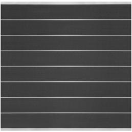 Sichtschutzzaun »Donatus«, WPC, 8 Bohlen, Alu-Leisten blank anodisiert, HxL: 180 x 180 cm