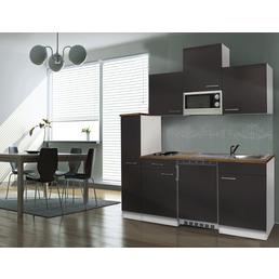 RESPEKTA Singleküche »KB180WWMIC«, mit E-Geräten, Gesamtbreite: 180cm