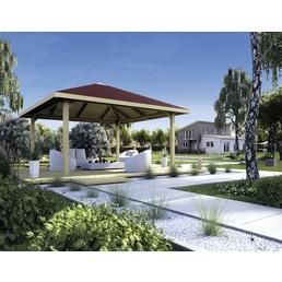 WEKA Sitzlaube »Paradies Größe 3«, Zeltdach, viereckig, BxT: 380 x 380 cm, inkl. Dacheindeckung