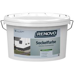 RENOVO Sockelfarbe, ca. 6 - 7,6 m²/l, schiefergrau, matt, 5 l