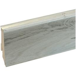GO/ON! Sockelleiste, Eiche weiß, PVC, 240 x 5,9 x 1,7 cm