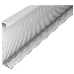 CARL PRINZ Sockelleiste, silberfarben, Aluminium, 270 x 6 x 1,3 cm