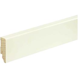 FN NEUHOFER HOLZ Sockelleiste, weiß, Kiefernholz, LxHxT: 240 x 5,8 x 1,8 cm