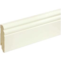 FN NEUHOFER HOLZ Sockelleiste, weiß, Kiefernholz, LxHxT: 240 x 8 x 1,8 cm