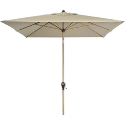 Sonnenschirm »Alu Wood«, BxHxL: 300 x 200 x cm, abknickbar, Sonnenschutzfaktor: 50+