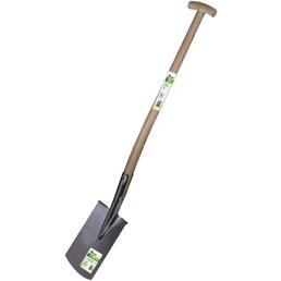 Spaten, Arbeitsbreite x Stiellänge: 17,5 x 85 cm, Edelstahl/Holz, braun/silberfarben