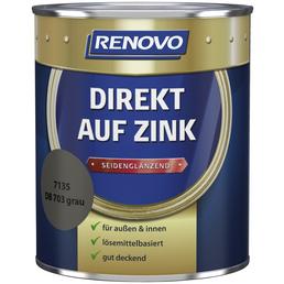RENOVO Speziallack »Direkt auf Zink«, grau, seidenglänzend