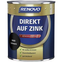RENOVO Speziallack »Direkt auf Zink«, schwarz (RAL 8162), seidenglänzend