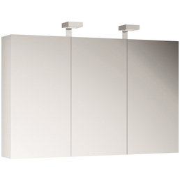 ALLIBERT Spiegelschrank, 3-türig, LED, B x H: 120 x 70 cm