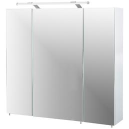 SCHILDMEYER Spiegelschrank »Dorina«, BxHxT: 80 x 71 x 16 cm, 3-türig, weiß