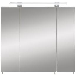 SCHILDMEYER Spiegelschrank »Luke«, 3-türig, LED, BxH: 80 x 71 cm