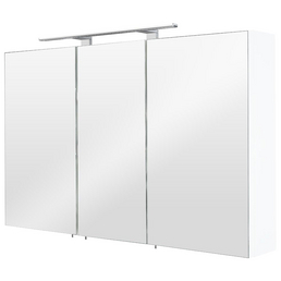 POSSEIK Spiegelschrank »MULTI USE«, 3-türig, LED, B x H: 110 x 68 cm