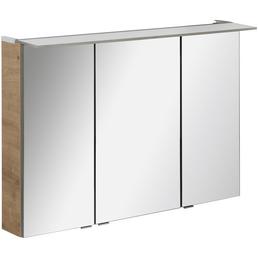 FACKELMANN Spiegelschrank »PE 100«, 3-türig, LED, BxH: 100 x 69 cm