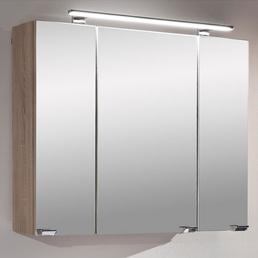POSSEIK Spiegelschrank »Sonoma«, 3-türig, LED, B x H: 80 x 62 cm