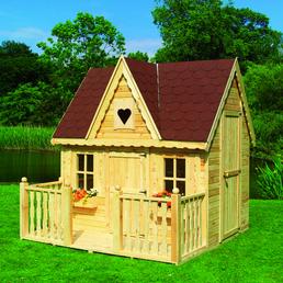 PROMADINO Spielhaus, BxHxT: 231 x 237 x 239,5 cm, Holz, natur