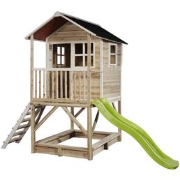 EXIT Toys Spielhaus »Loft Spielhäuser«, BxHxT: 190 x 253 x 329 cm, natur