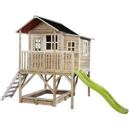 EXIT Toys Spielhaus »Loft Spielhäuser«, BxHxT: 190 x 253 x 382 cm, natur