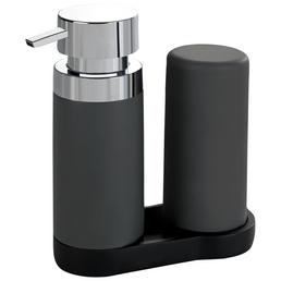 WENKO Spülmittelspender »Easy Squeez-e«, grau, Polyresin/Silikon