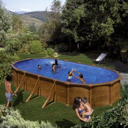GRE Stahlwand-Pool »Aufstellpool «, oval, B x L x H: 375 x 730 x 132 cm