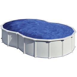 GRE Stahlwand-Pool Poolset , oval, BxLxH: 390 x 640 x 120 cm