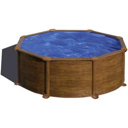 GRE Stahlwand-Pool,  rund, Ø x H: 350  x 132 cm