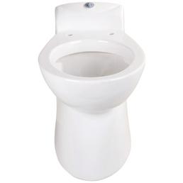 SETMA Stand-WC-Komplettset »Compact S1«, Tiefspüler, weiß, mit Spülrand
