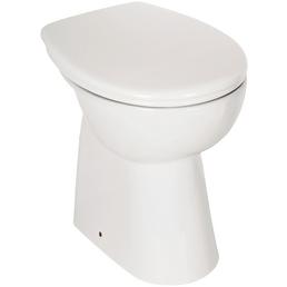 aquaSu® Stand-WC-Komplettset »IGENO«, Tiefspüler, weiß, spülrandlos