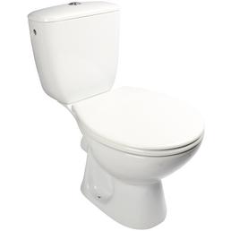 SANITOP-WINGENROTH Stand-WC-Komplettset »Laguna«, Tiefspüler, weiß, mit Spülrand