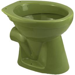 CORNAT Stand WC »Moosgrün«, Tiefspüler, moosgrün, mit Spülrand