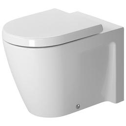 DURAVIT Stand WC »Starck 2«, Tiefspüler, weiß, mit Spülrand