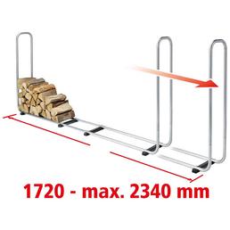 WOLFCRAFT Stapelhilfe, silberfarben, geeignet für Holzscheite von 25 - 50 cm